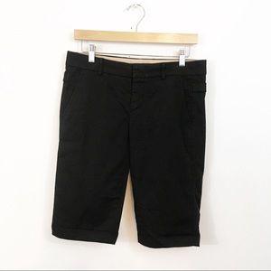 Vince Black Bermuda Shorts Side Buckle Size 2